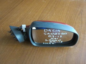 Dacia Sandero 2007-2012 Dacia Logan 2008-2012 ηλεκτρικός καθρέφτης δεξιός μπορντό