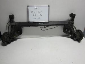 Opel agila 08-14 πίσω άξονας