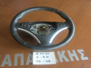 bmw e90 sira 3 2005 2012 volan timoniou derma me chiristiria 300x225 BMW Series 3 E90/E91 2005 2012 βολάν τιμονιού δέρμα με χειριστήρια