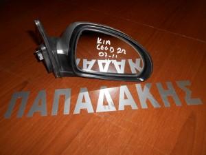 KIA Ceed 2007-2013 2πορτο καθρέπτης δεξιός ηλεκτρικός ασημί