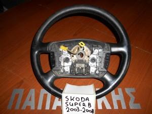 skoda super b 2003 2008 volan timoniou mavro me chiristiria 1 300x225 Skoda Super B 2003 2008 βολάν τιμονιού μαύρο με χειριστήρια