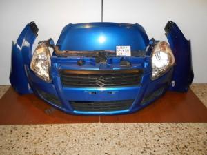 Suzuki Splash 2007--> μούρη-μετώπη κομπλέ (καπό-2 φτερά-2 φανάρια-προφυλακτήρας με προβολείς-μετώπη με τραβέρσα κ ψυγεία-βενζίνη-μπλε)