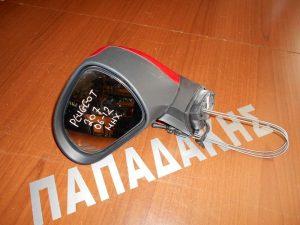 Peugeot 207 2006-2012 καθρέπτης αριστερός μηχανικός κόκκινος