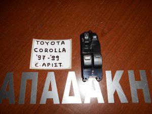 Toyota Corolla 1997-1999 διακόπτης ηλεκτρικών παραθύρων εμπρός αριστερός διπλός
