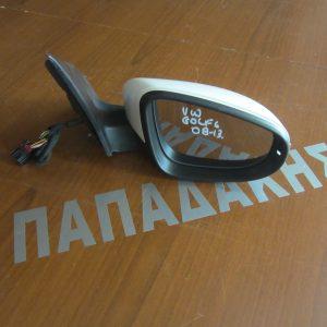 VW Golf 6 2008-2013 καθρέπτης δεξιός ηλεκτρικός λευκός