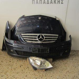 Mercedes B Class (W245) 2006-2008 μετώπη-μούρη μπλε σκούρο (καπώ-1 φτερό δεξί-1 φανάρι δεξί-προφυλακτήρας με μάσκα κ προβολείς και μετώπη)