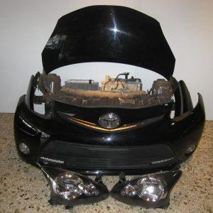 Toyota Aygo 2006-2012 (2012-2014) μούρη εμπρός κομπλέ μαύρη (καπώ-2 φτερά-2 φανάρια-προφυλακτήρας-μετώπη [κομμένη Π]-ψυγεία κομπλέ)