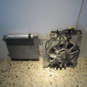 Toyota Aygo 2006-2012 (2012-2014) ΣΕΤ ψυγείων (ψυγείο νερού με βεντιλατέρ-ψυγείο A/C)