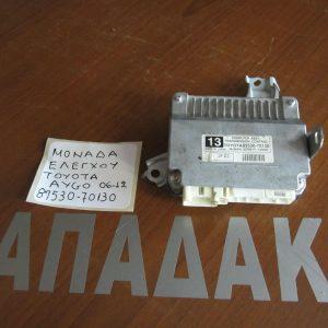 toyota aygo 2012 2014 monada elegchou kod89530 70130 300x300 Toyota Aygo 2012 2014 μονάδα ελέγχου (ΚΩΔ:89530 70130)