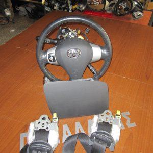 Toyota Aygo 2012-2014 ΣΕΤ air-bag (οδηγού-συνοδηγού-2 ζώνες) μαύρο