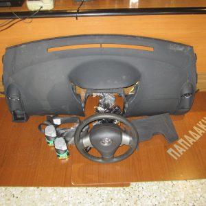 toyota yaris t sport 2006 2012 set air bag mavro tamplo odigou gonaton sinodigou 2 zones 300x300 Toyota Yaris T.Sport 2006 2011 ΣΕΤ air bag μαύρο (ταμπλώ οδηγού γονάτων συνοδηγού 2 ζώνες)