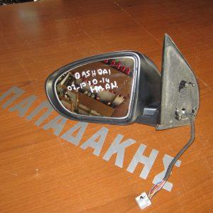 Nissan Qashqai 2007-2010 (2010-1014) καθρέπτης αριστερός ηλεκτρικός ανακλινόμενος ασημί σκούρο