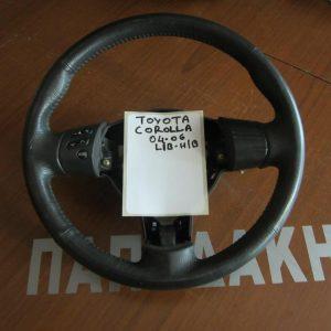 Toyota Corolla 2004-2006 H/B-L/B βολάν τιμονιού μαύρο
