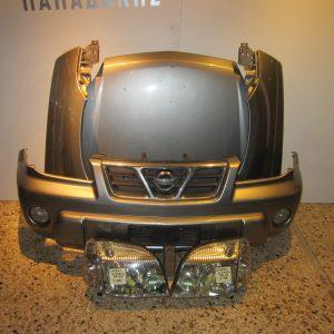 Μετωπη-μουρη εμπρος κομπλε Nissan X-Trail 2001-2003 ασημι (καπο-2 φτερα-προφυλακτηρας με προβολεις-μασκα-2 φαναρια)