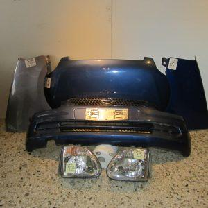 Οpel Agila 1999-2003 μπλε μετωπη-μουρη (καπω-2φτερα-2φαναρια-προφυλαχτηρας)