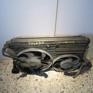 Seat Toledo 2004-2009 σετ ψυγεια(ψυγειο νερου-ψυγειοA/C-βεντιλατερ-ψυγειο intercooler)