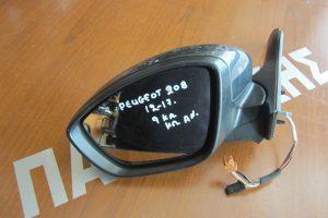 Peugeot 208 2012-2017 καθρεπτης αριστερος ηλεκτρικος και ηλεκτρικα ανακληνωμενος ανθρακι