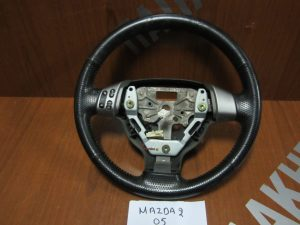 Mazda 2 βολάν τιμονιού 2003-2007 δέρμα χειριστήριο