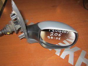 Peugeot 206 1998-2009 καθρεπτης δεξιος μηχανικος ασημι
