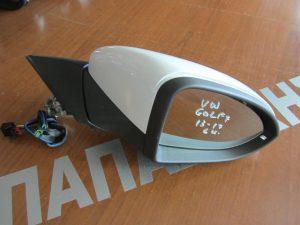 VW Golf 7 2013-2017 καθρέπτης δεξιός ηλεκτρικός  6 καλώδια άσπρος