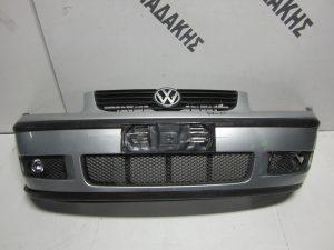 VW Polo 1999-2001 προφυλακτήρας εμπρός ασημί