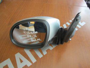VW Tiguan 2007-2016 καθρέπτης αριστερός ηλεκτρικά ανακλινόμενος ασημί φως ασφαλείας