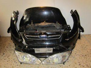 Ford C-Max 2010-2014 μούρη κομπλέ μαύρη:(καπώ-2 φτερά-2 φανάρια-προφυλακτήρας με αισθητήρες-μετώπη με ψυγεία κομπλέ κ τραβέρσα)