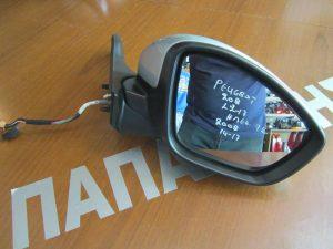 Peugeot 2008 2014-2017 καθρέπτης δεξιός ηλεκτρικός 9 καλώδια ασημί