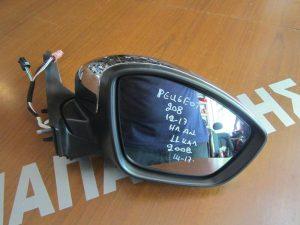 Peugeot 208 2012-2017 καθρέπτης δεξιός ηλεκτρικά ανακλινόμενος 11 καλώδια χρώμιο νίκελ