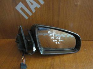 Audi A3 2003-2008 5θυρο καθρέπτης δεξιός ηλεκτρικά ανακλινόμενος 9 καλώδια μαύρος