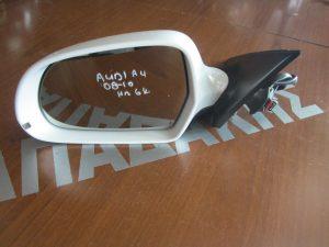 Audi A4 2008-2010 καθρέπτης αριστερός ηλεκτρικός άσπρος 6 καλώδια