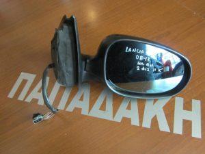 Lancia Delta 2008-2017 καθρέπτης δεξιός ηλεκτρικά ανακλινόμενος 2 φις 11 καλώδια μαύρος