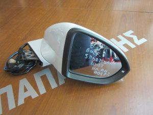 VW Golf Sportsvan 2014-2017 δεξιός ηλεκτρικά ανακλινόμενος καθρέπτης άσπρος φως ασφαλείας