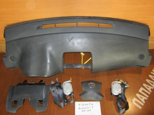 set airbag toyota avensis 2003 2006 mavro tablo me dexi ab ab odigou ab gonaton 2 zones 300x225 Σετ AirBag Toyota Avensis 2003 2006 μαύρο: ταμπλό με δεξί A/B  A/B οδηγού  A/B γονάτων  2 ζώνες