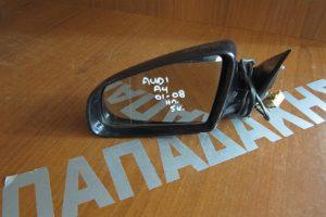 Audi A4 2008-2010 ηλεκτρικός καθρέπτης αριστερός μαύρος 6 καλώδια