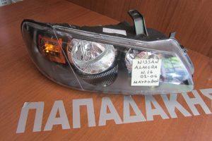 Nissan Almera N16 2002-2006 φανάρι εμπρός δεξιό μαύρο φόντο