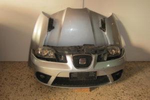 Seat Ibiza 2006-2008 μούρη ασημί: καπό- 2 φτερά- 2 φανάρια- προφυλακτήρας- μάσκα- μετώπη- ψυγείο νερού- ψυγείο A/C- βεντιλατέρ- τραβέρσα προφυλακτήρα