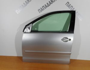 VW Polo 2002-2009 πόρτα εμπρός αριστερή ασημί (βαφόμενη φάσα)