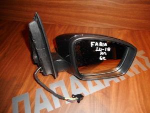 Skoda Fabia 2014-2018 δεξιός ηλεκτρικός καθρέπτης μαύρος 6 καλώδια