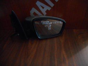 Skoda Fabia 2014-2018 καθρεπτης δεξιος ηλεκτρικός 6 καλώδια ασημί σκούρο