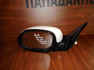 Kia Soul 2014-2018 ηλεκτρικά ανακλινόμενος καθρέπτης αριστερός άσπρος 8 καλώδια