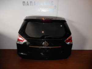 Nissan X-Trail 2014-2017/2017-> οπίσθια πόρτα μαύρη (μπαγκάζ)