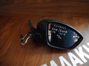 Peugeot 208 2012-2018/Peugeot 2008 2014-2018 δεξιός καθρέπτης ηλεκτρικός ανθρακί 9 καλώδια