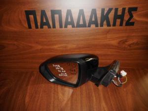 Peugeot 3008 2016-2018 αριστερός καθρέπτης ηλεκτρικά ανακλινόμενος μαύρος 11 καλώδια φως ασφαλείας