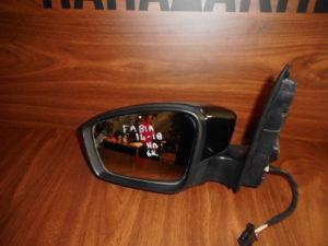 Skoda Fabia 2014-2018 αριστερός καθρέπτης ηλεκτρικός μαύρος 6 καλώδια