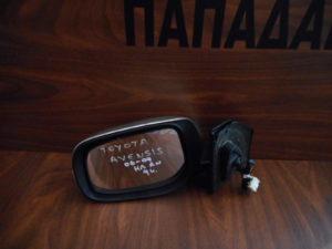 Toyota Avensis 2006-2009 αριστερός καθρέπτης ηλεκτρικά αναλινόμενος ασημί 9 καλώδια