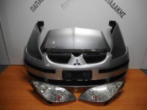 Μούρη κομπλέ Mitsubishi Colt 2004-2008 ασημί 5θυρο