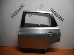 Nissan Qashqai +2 2006-2013 πόρτα πίσω αριστερή ασημί