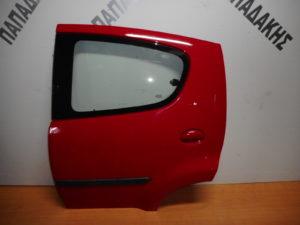 Citroen C1/Peugeot 107 2006-2014 πόρτα πίσω αριστερή κόκκινη