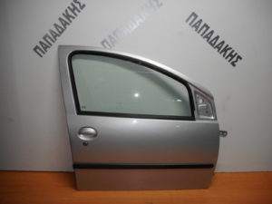 Citroen C1/Peugeot 107/Toyota Aygo 2006-2014 πόρτα εμπρός δεξιά ασημί
